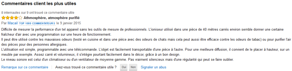 avis amazon purif