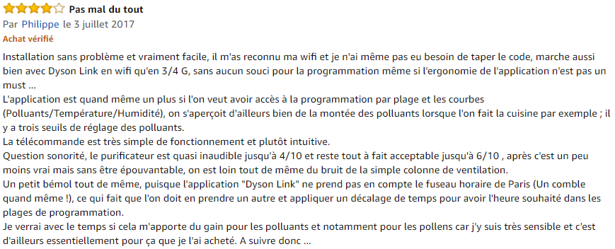 avis Dyson Pure Cool Link de table